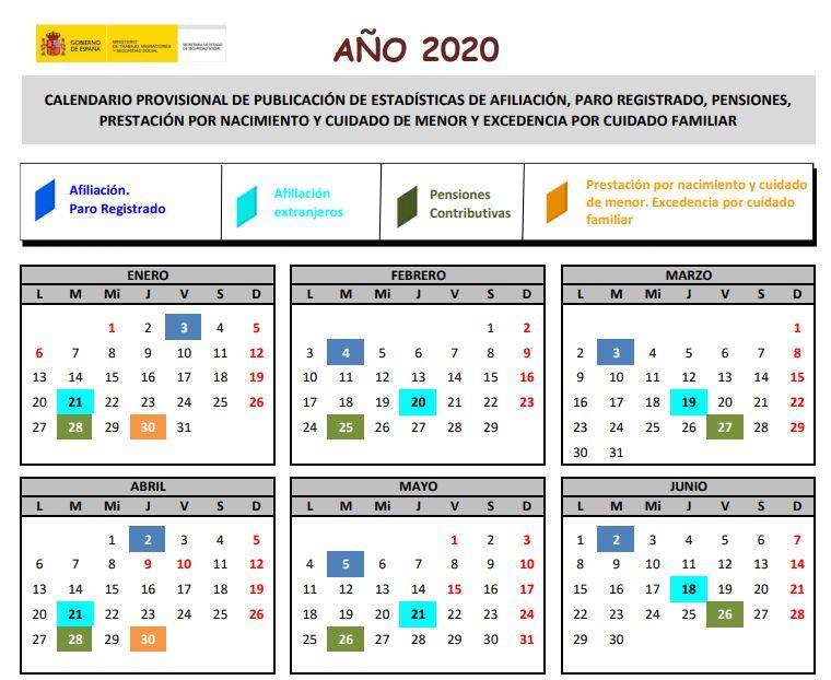 Calendario Ministerio de Trabajo