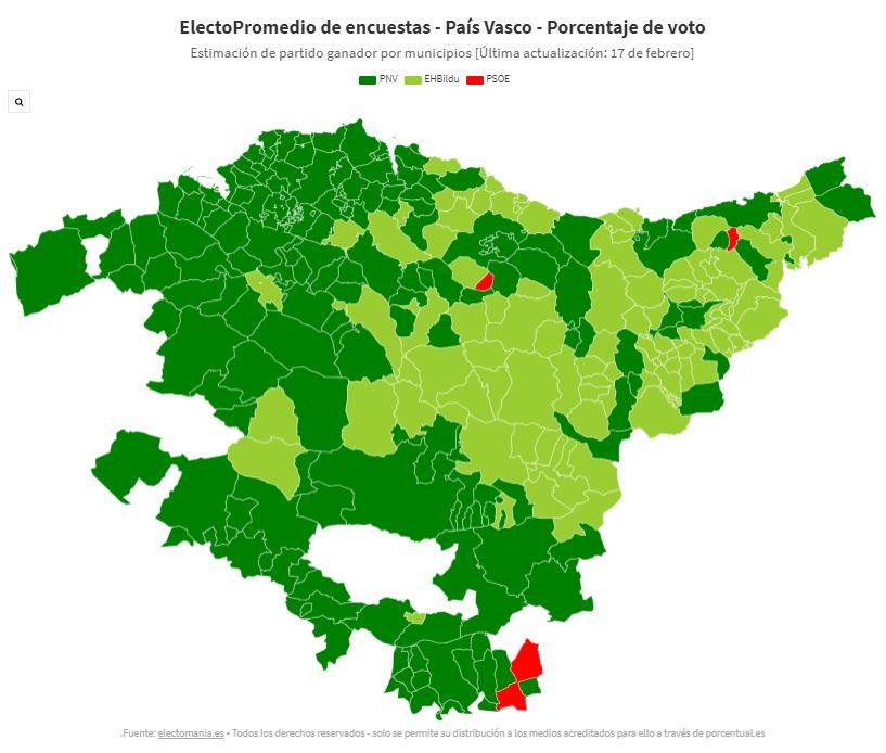 Mapa electoral Euskadi